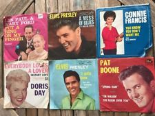 Elvis Presley, Les Paul & Mary Ford + More 45 Rpm Lot Of 6