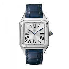 New Cartier Santos Dumont Large Model Stainless Steel Quartz Watch WSSA0022