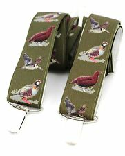 Shooting Braces Green Game Birds Shooting Gift Trouser suspenders Gift Boxed NEW