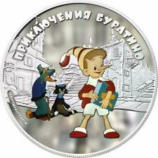 Cook Islands 2012 - 5$ - Adventures of Buratino - Buratino - 1 Oz Silver Coin