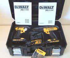 DeWalt DCZ298S2T 18v XR Twin Pack DCD776 Combi DCF885 Impact 2 x Batteries