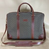 """Vintage Hartmann Wings Diamond Jacquard  17"""" Carry on Shoes Bag Tote Briefcase"""