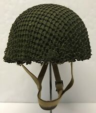 Original WWII British MK2 Airborne Helmet w/1953 Dated Liner
