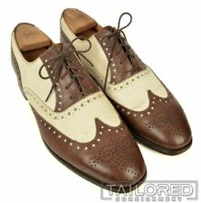 BROOKS BROTHERS PEAL Alfred Sargent Brown Spectator Wingtip Dress Shoes - 10