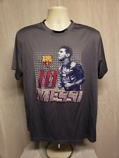FC Barcelona FCB Lionel Messi 10 Adult Gray XL Football Soccer Jersey