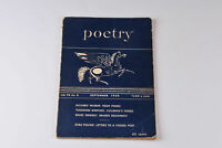 Vintage Poetry Magazine Sept 1950 Vol 76 No 6 Theodore Roethke Richard Wilbur