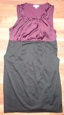 Liz Lange Maternity S Small Maroon Wine Black Dress Sleeveless Career EUC Lined