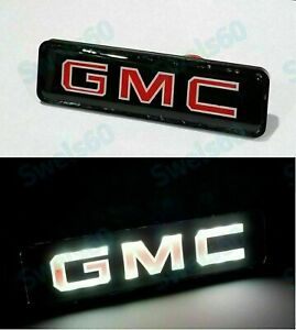 New LED For GMC Logo Light Badge Illuminated Car Decal Sticker For Front Grille