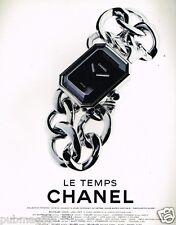 Publicité advertising 1997 La Montre Le Temps Chanel collection première