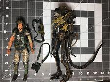 NECA Aliens LOOSE Corporal Dwayne Hicks Vs Xenomorph Warrior 2PK 2013 USED