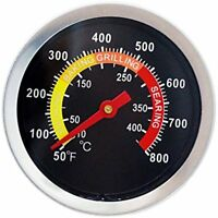 BBQ Barbecue Charcoal Grill Pit Wood Smoker Temperature Gauge Thermometer For