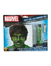 Hulk Wig And Makeup Kit, Marvel Comics Costume Accessory