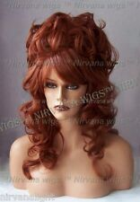 High Cone Beehive Cascading Curls Long Drag Womens/Mens U Choose Colour Wig