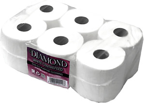 Diamond centrefeed white roll 6 pack