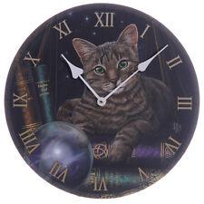 Tabby Cat Design Wall Clock - Lisa Parker Fortune Teller Cat Clock - BNIB