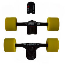 Easy People Longboards Black Truck set Yellow wheels,Spacer,ABEC-7