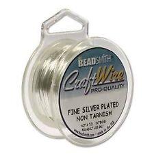 Craft wire 18 gauge (1.02mm) plaqué argent beadsmith pro qualité non tarnish