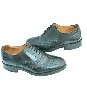 Loake Brogue Shoes Size 5  024/F Mens Boys Last Chester Country Black Leather