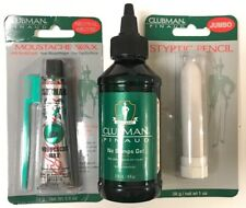 3 Pack Of Clubman Pinaud  for Men No Bumps Gel, Styptic Pencil, Moustache Wax
