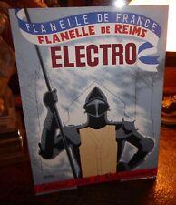 Raymond Ducatez carton publicitaire Flanelle de Reims