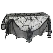 Halloween Lace Decor Curtain Cloth Cover Web Lacey Bats/Spider Window