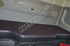 TRUCK BED COVER COMPATIBLE WITH VOLVO FH4 2013-2020  ECO LEATHER - -BLACK & RED