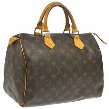 LOUIS VUITTON SPEEDY 30 HAND BAG MONOGRAM CANVAS LEATHER M41526 TH0022 F03043