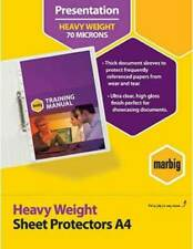 Marbig A4 Deluxe Sheet Protectors Heavy Duty Weight 70 Microns Clear 100 Pages