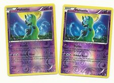 2 RARE MELOETTA #77/149 -BOUNDARIES CROSSED Pokemon Card- REV HOLO MINT