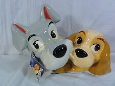 """Disney """" Lady And The Tramp """" Figurine / Bust Head"""