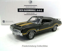 Rare Franklin Mint Black 1970 Oldsmobile 4-4-2 S/N 100 Of 250-W/ Boxes & Papers
