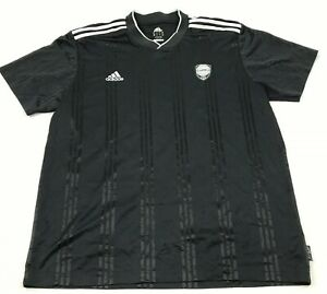 Adidas Soccer Jersey Size Extra Large Black Dry Fit Shirt Short Sleeve V-neck T