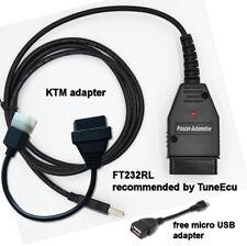 TUNE ECU DIAGNOSTIC CABLE LEAD + KTM ADAPTOR - REMAP YOUR KTM BIKE 690 990 1190