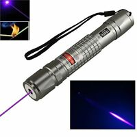 High Power Blue Purple violet Laser Pointer Pen 5mw 405nm Burning Beam Light