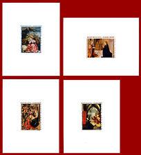Dahomey 1967, épreuve de luxe, thème: art, tableau, noël, religion YT: PA 67-70