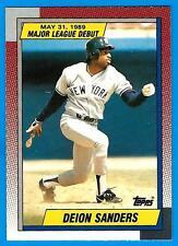 1989 Topps Debut DION SANDERS (ex-mt) New York Yankees Rookie