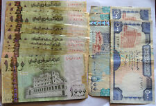 Yemen: 14000 RIAL in BANCONOTE. Yer. 13 x 1000 + 2 x 500 (due tipi).