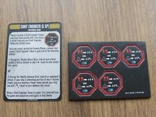 Star Trek Attack Wing OP Chief Engineer Tokens & Reference card
