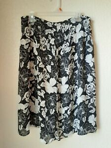 Norton McNaughton Brown Floral Rayon Skirt Womens Size Medium