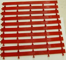 Scx 1/32 (10) Guard Rails Red Barriers From Le Mans Pole Position Set 14 Inches