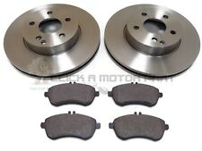MERCEDES E200 E220 CDi 2010-2016 FRONT 2 BRAKE DISCS AND PADS (CHECK SIZE 295MM)