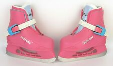 New listing BAUER Little Girls Ice Skates Sz 6/7 Lil Angel Pink Toddler Hockey Used Once EUC