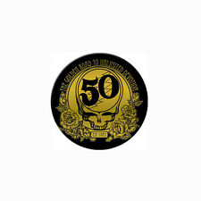 GRATEFUL DEAD 50th Anniversary SYF Pin Button Golden Road To Ultimate Devotion
