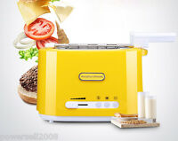 Yellow Stainless Steel + Plastic 2 Slice Household Full-Automatic Toaster
