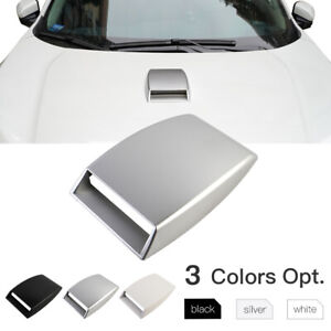 Universal Car Decor Air Flow Intake Hood Scoop Vent Bonnet Cover Adhesive