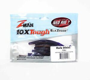 Zman Soft Lure Hula Stickz 4 Inch 6 per Pack PB & J (1003)