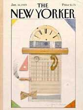 New Yorker COVER 01/16/1989 - Ledger Art  MIHAESCO