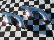 """DT214 Chrome Dual Outlet Exhaust Tips 2.25"""" 2 1/4"""" Splitters (pair)"""
