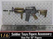 "1:6 Soldier Model Toy U.S. M4A1 SOPMOD rifle M4 carbine rifle model F 12"" Figure"
