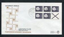 FDC Philato met Postzegelboekje PB 6 Fp B, blanco met open klep ;